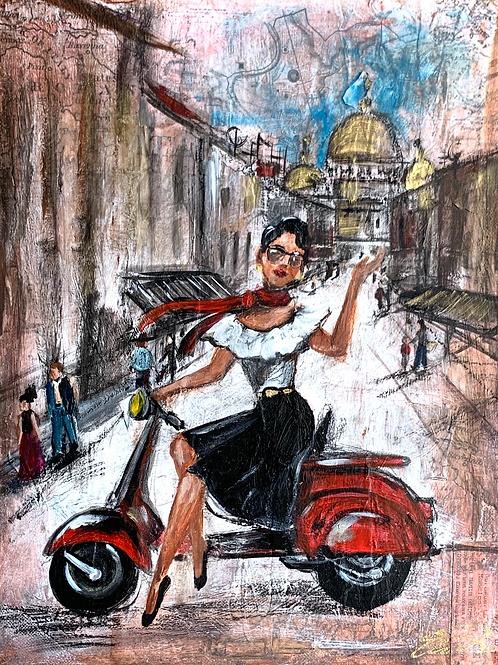 """Girls Love Travel, Italy"" Print"