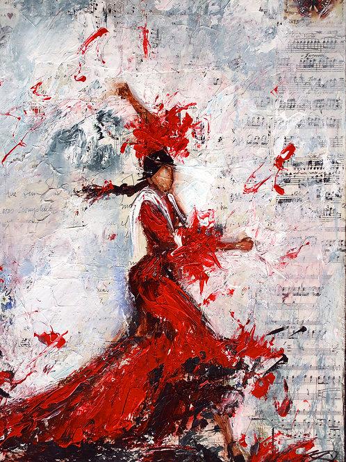 """""""Dance Like a Butterfly"""" Notecard"""