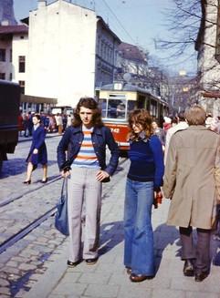 Soviet fashion, Lvov, Ukrainian SSR, 1970s