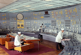Control room, Metsamor Nuclear Power Plant, Armenian SSR