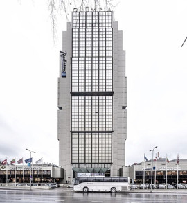 The Hotel Olümpia. Tallin, Estonia. built: 1980, renovated in 2017. architect: Toivo Kallas, Rein Kersten, A. Andressoo (c) BACU