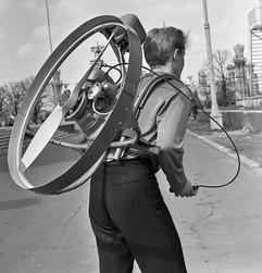 Soviet backpack propeller aero engine MPI, 1967