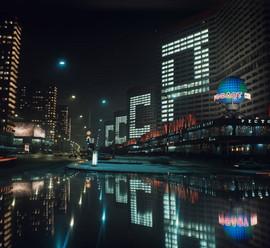 Kalininsky avenue, Moscow, USSR, 1977