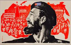 """Fidel Castro"" painting by Eduard Artsrunyan, USSR, 1963"