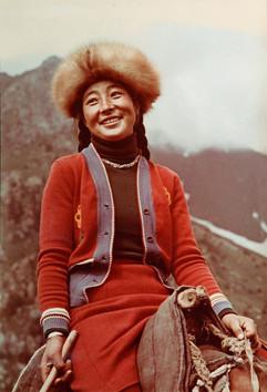 Kirghiz girl. Photo by Dmitry Baltermants, USSR, 1960s