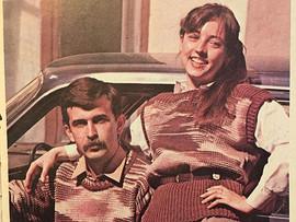 "Illustration from ""Knitting"" Soviet magazine, 1984"