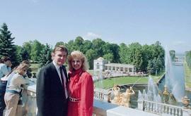 Donald Trump visiting USSR, Petrodvorets, Leningrad oblast, 1987.
