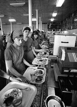 Soviet factory canteen, 1980s