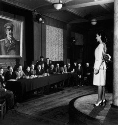 Committee in charge of deciding which clothes could be sold to Soviet women, Moscow, USSR, 1947 Photo by Robert Capa