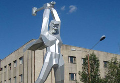 BAM Railway workers monument, Tynda, Amur region, Siberia, Russia