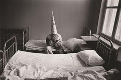 New Year in a psychiatric hospital. USSR, Moscow, 1988. Photographer: Pavel Krivtsov
