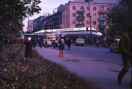 Transportation of the Il-18 aircraft to Engels Park, Sverdlovsk, USSR, 1977