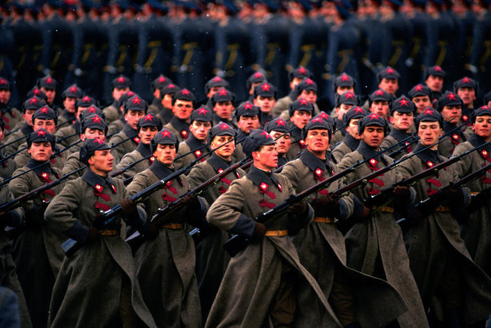 Military parade. Photo by Peter Turnley, Moscow, USSR, 1987