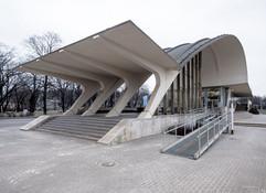 Railway station Dubulti, Jurmala, Latvia. Built in 1977. Architect Igor Javein (c) BACU