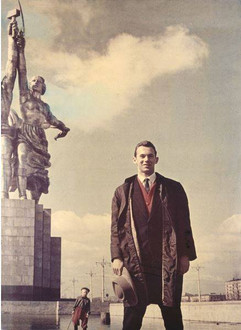 Famous Soviet athlete Valeriy Brumel. Photo by Dmitriy Baltermants, Moscow, USSR, 1960
