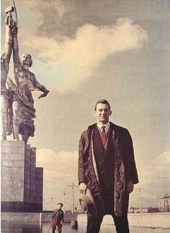 Famous Soviet athlete Valeriy Brumel. Photo by Dmitriy Baltermants, Moscow, USSR, 1960