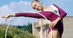 Irina Deryugina, USSR absolute champion in rhythmic gymnastics. Photo by Yuri Somov, 1976