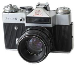 Zenit-E Soviet photo camera, 1977