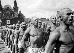 USSR Parade of athletes on the Red square in Moscow, 1937