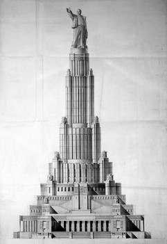 The project of the Palace of Soviets (architect B.M. Iofan, V.A. Schuko, V.G. Gelfreich), USSR, 1935-1937