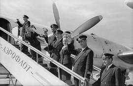 Aeroflot Soviet airlines pilots and flight attendants, 1960s