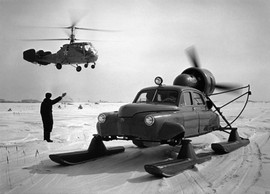 """""GAZ M20 Pobeda Sever"" Soviet propeller-driven snowmobile 1960-1961"""