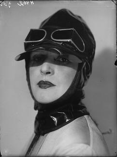 "Soviet actress Zinaida Reich as Phosphoric Woman in ""The Bathhouse"" play by Vladimir Mayakovsky, production by Vsevolod Meyerhold. Photo by Alexey Temerin, USSR, 1930"