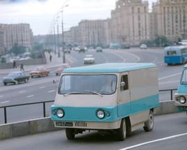 "EM-0466 ""Kaliningrad"" Soviet electric vehicle prototype. Photo by Rudolf Alfimov, 1973"