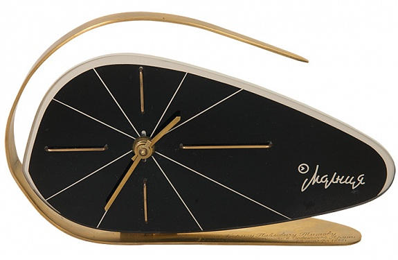 """""""Molnija"""" Soviet desk clock, 1960s"""