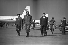 Fidel Castro in Sverdlovsk airport, USSR, 1963