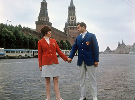 Parade uniform of Soviet athletes for the Summer Olympics in Mexico City, Moscow, USSR, 1968
