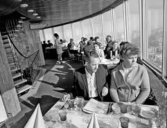 """""""Seventh Heaven"""" restaurant in the """"Ostankino"""" TV tower. Photo by Vasily Egorov and Alexey Stuzhin, Moscow, USSR, 1970"""