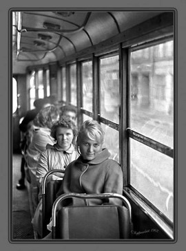 Girl on the tram, USSR, 1962