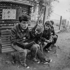 Soviet teens. Photo by Vadim Kachan, USSR, 1980s