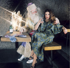 1970's. Leningrad, USSR. Dress by the Leningrad House of Models