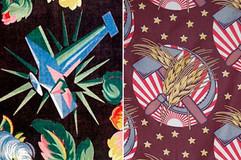 Soviet propaganda textile design, 1920s.