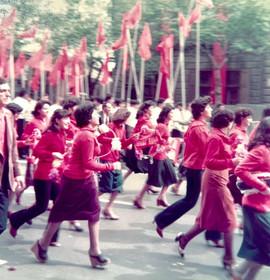 May Day celebration, Yerevan, Armenian SSR, 1982