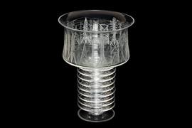 """Electrification"" vase by Helli Pyld, Leningrad factory of art glass, USSR, 1968"