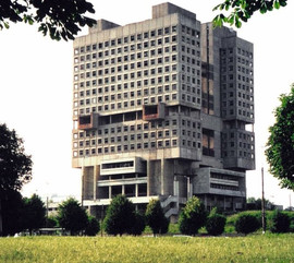 """The House of Soviets in Kaliningrad (Königsberg prior to 1946). The locals often refer to it as """"buried robot"""""""