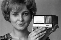 "Soviet mini-TV produced by ""Monolit"" factory, Vitebsk, Byelorussian SSR, 1975"