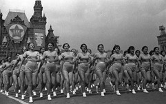 Sports parade on Red Square. Photo by Sergey Vasin, Moscow, USSR, 1938