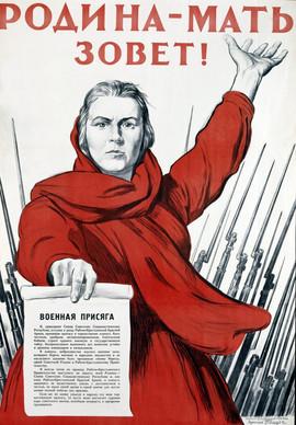 """The Motherland Is Calling""  Soviet World War II poster"