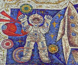 Soviet mosaic in Baku, Azerbaijan SSR