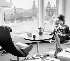 """View from the window of the 10th floor room at """"Rossiya"""" hotel. Photo by Lev Porter, Moscow, USSR, 1966"""