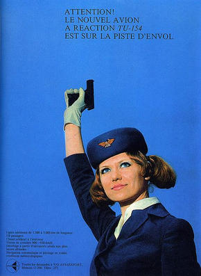 Aeroflot Soviet airlines poster, 1970s
