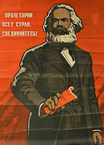 """Workers of the World, Unite!"" Soviet poster, 1968"