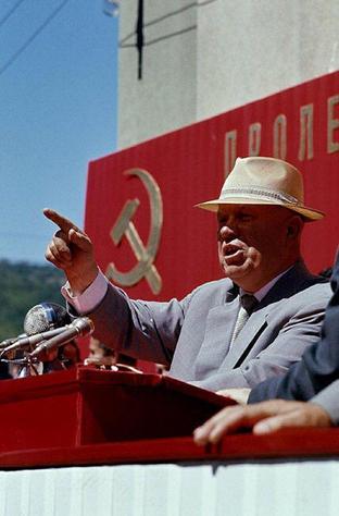 Soviet premier Nikita Khrushchev, Yugoslavia, 1963