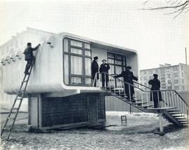 Experimental plastic house. Leningrad, USSR, 1961