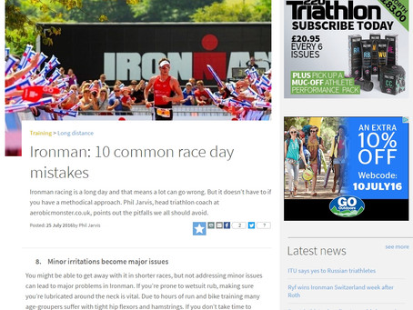 New 220 Triathlon Article : 10 IRONMAN RACE DAY MISTAKES