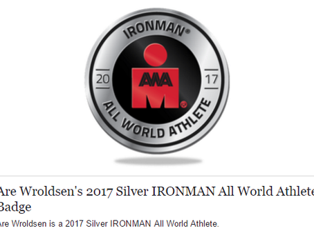 Coached Athlete: Are Wroldsen is a 2017 Silver IRONMAN All World Athlete.